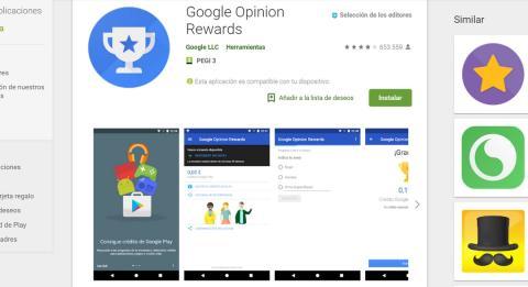 descargar google opinion rewards gratis