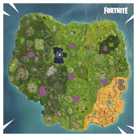 Fortnite circulos llameantes temporada 6 mapa