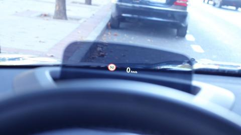 Head up display de Mini