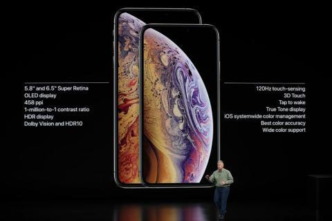 iPhone XS en la keynote de Apple