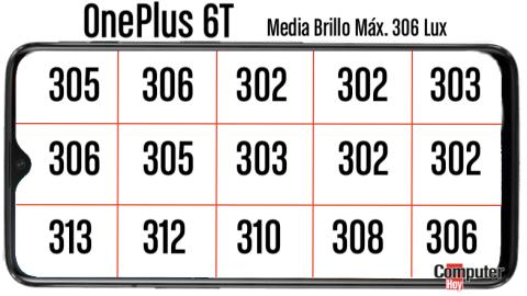 OnePlus 6T Brillo pantalla