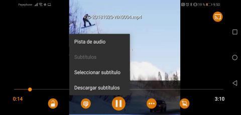 Subtítulos VLC Móvil