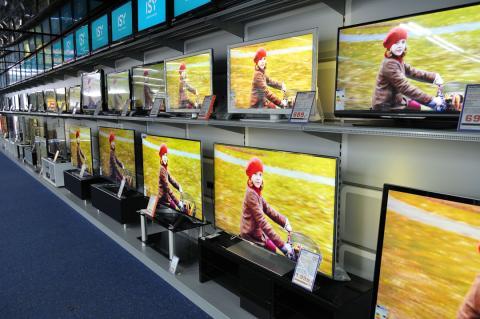 Televisores en una tienda