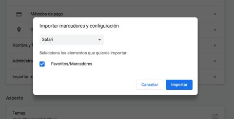 Ajustes Chrome