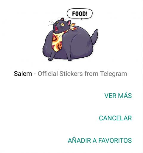 Añadir sticker a Favoritos