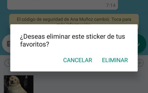Eliminar sticker