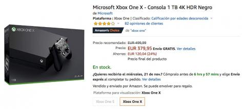 Oferta Xbox One X Black Friday