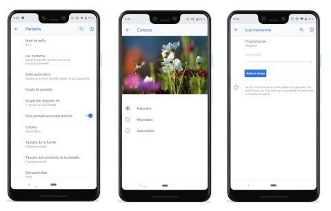 Pixel 3 XL - ajustes pantalla