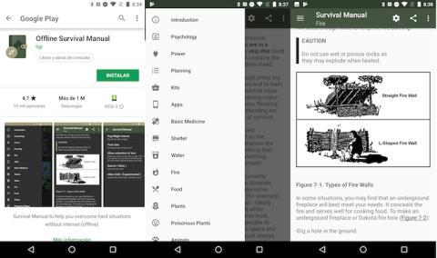 Aplicaciones manuales de supervivencia Land Rover
