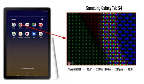 Detalle píxeles Samsung Galaxy Tab S4