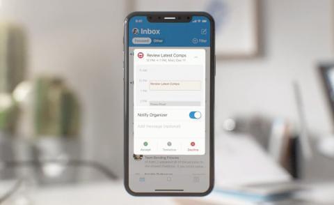 Diseño Outlook iPhone