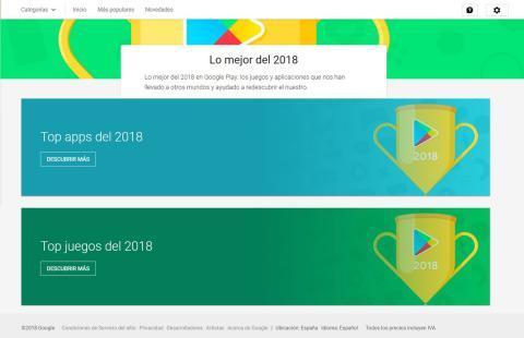 Estas son las mejores apps y juegos de Android en 2018, según Google