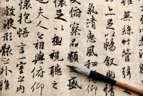 Idioma escritura chino china