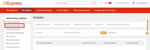 Devolver producto en AliExpress