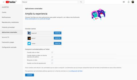 conectar youtube con twitter