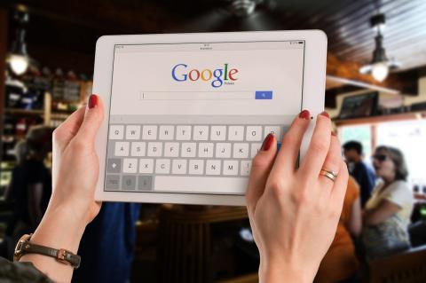 Google buscador en tablet