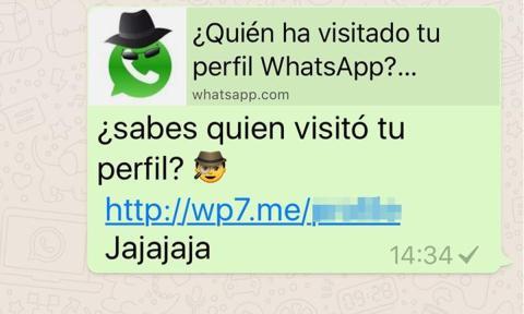Quién vio tu perfil Whatsapp