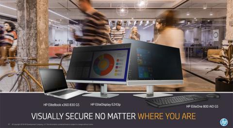 seguridad pantallas hp