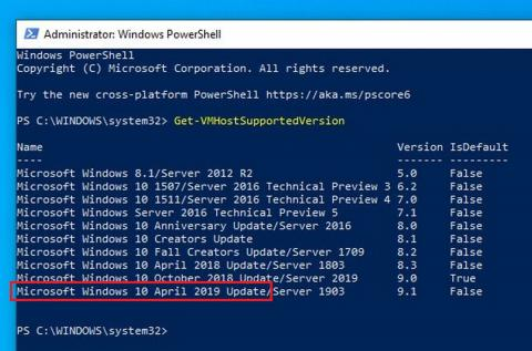 Windows 10 April 2019 Update