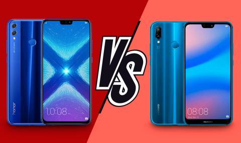 Honor 8X vs Huawei P20 Lite