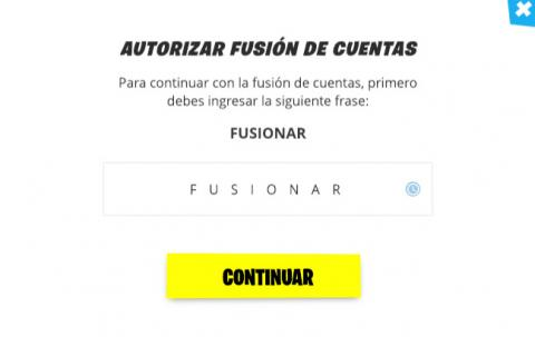 Fusionar cuentas Fortnite