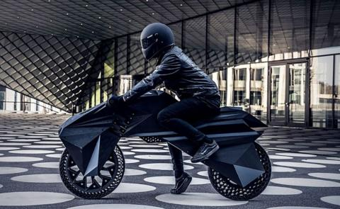 Moto impresa en 3d