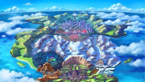 Pokémon Espada Escudo Galar mapa