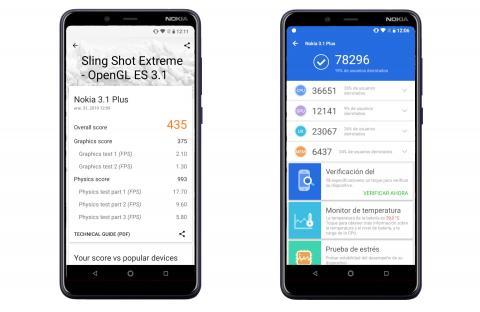 Nokia 3.1 Plus - benchmark