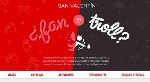 Calendario Atrapalo.Los Mejores Planes Baratos De San Valentin Para Hacer En Pareja