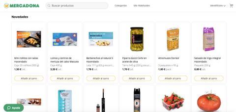 Nueva web Mercadona