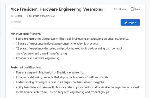 Pixel Watch oferta de empleo