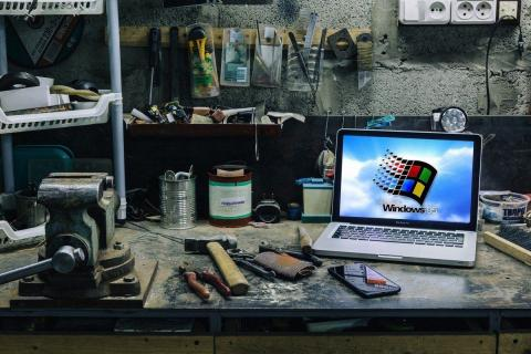 Usos portátil viejo
