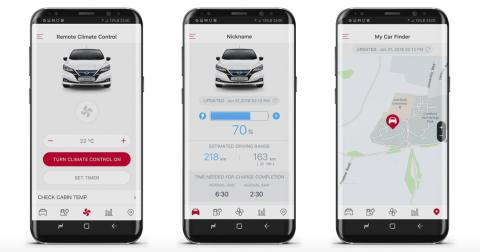 Aplicación de Nissan EV Connect