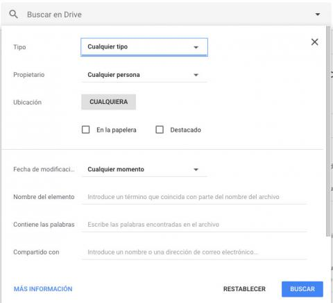Buscar en Google Docs