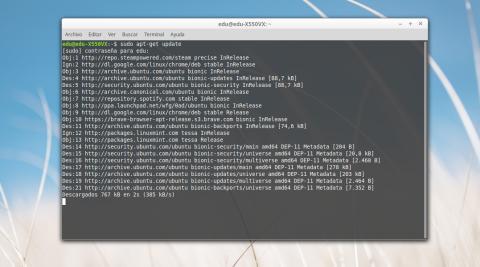 Comandos Linux Sudo apt-get update