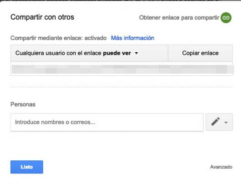 Compartir documentos en Google Docs