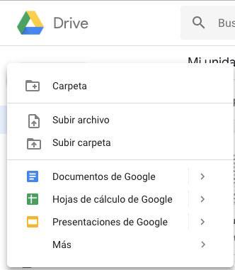 Crear carpeta en Google Docs
