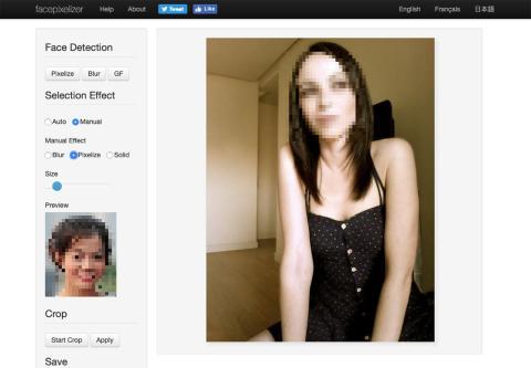 Pixelar fotos con Facepixelizer