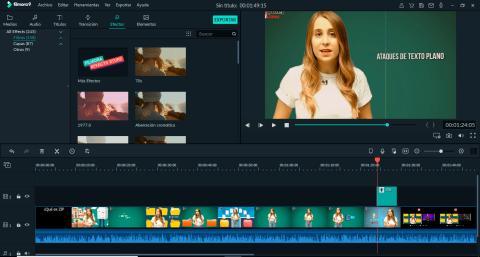 Añadir efectos en Filmora