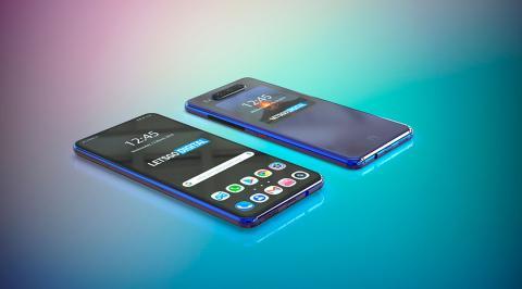 Huawei móvil con pantalla secundaria