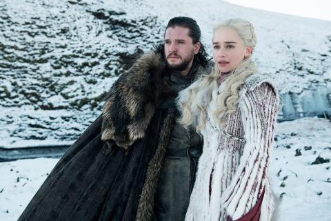 Jon Nieve y Daenerys Juego de Tronos