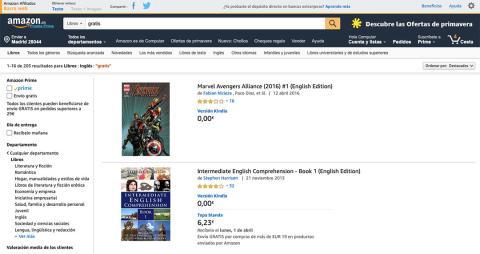 Libros gratis en inglés en Amazon