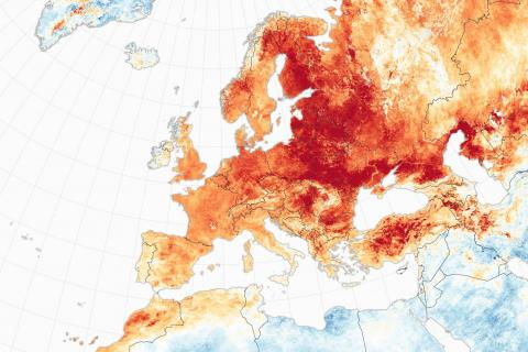 mapa calor europa