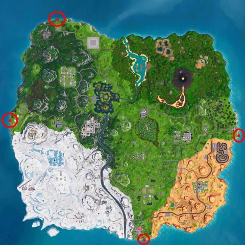 Visita los puntos más alejados del mapa Fortnite