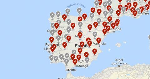 Mapa de Supercargadores en España