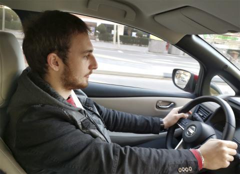 Prueba de la tecnología del Nissan Leaf 2019