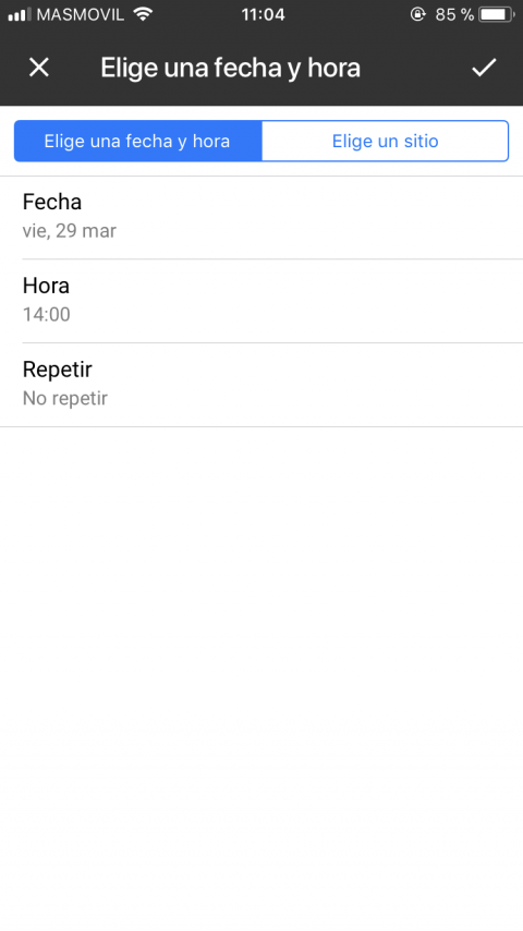 Notificaciones en Google Keep