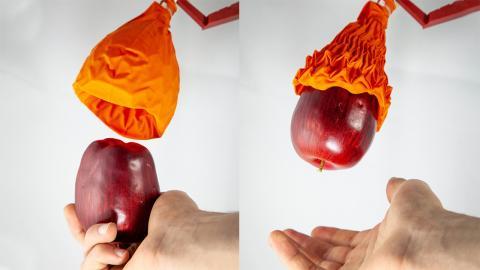 Mano robot en forma de origami