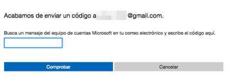Recuperar cuenta Hotmail