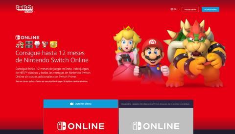 Twitch Prime regalará 1 año de Nintendo Switch Online por 'tiempo limitado'